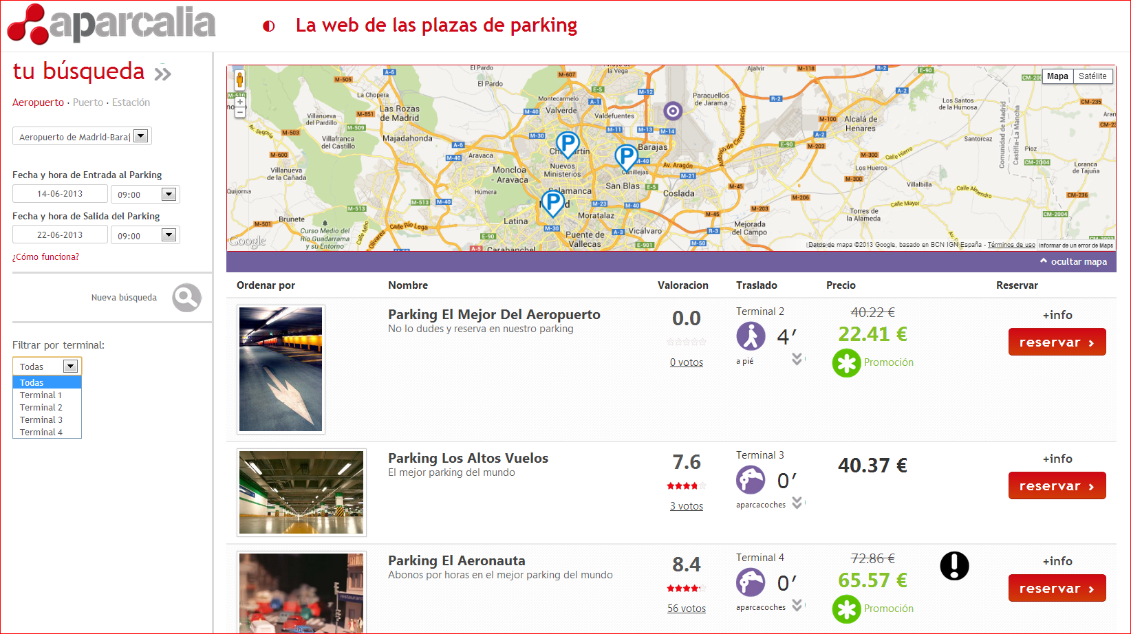 parking price comparator Parkium , to find long-stay car parks at airports, train stations and ports